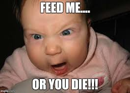 Feed Me Meme - evil baby meme imgflip
