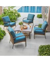 Wicker Patio Conversation Sets Here U0027s A Great Deal On Hampton Bay Corranade 5 Piece Wicker Patio