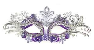 purple mask venetian purple mask w silver metal laser cut and crystals on