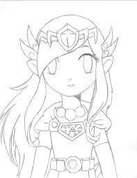 15 images of zelda coloring pages anime art princess zelda