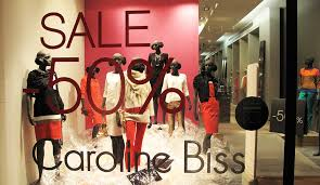 caroline biss plastic sale window display best window displays