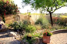 Front Yard Desert Landscape Mediterranean Exterior Tucson Oasis Mediterranean Landscape Phoenix By Santa Rita