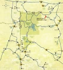Yellowstone Lodging Map Beartooth Map