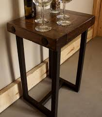 Iron Side Table Wood Iron Side Table Liken Woodworks