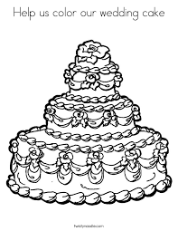wedding cake drawing happy birthday coloring pages for nana printable in fancy help us