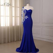 aliexpress com buy adln royal blue mermaid evening dresses one