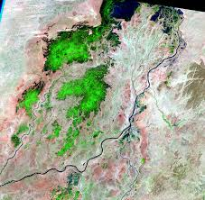 Niger River Map Inland Delta Of The Niger River Mali Earthshots Satellite
