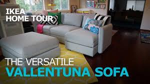 sofa tour smart and durable vallentuna sectional sofa ikea home tour