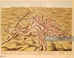 map of perugia map of perugia italy coloured engraving stock illustration getty