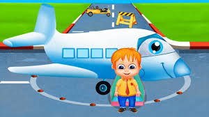 airplane cartoon for kids the airport diary seeappsforkids