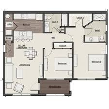 St Thomas Suites Floor Plan by Scioto Ridge Luxury Apartments With Gorgeous River Views