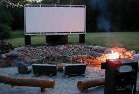 backyard movie projector screen outdoor furniture design and ideas