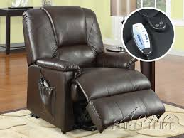 reseda massage power lift recliner brown by acme 10652