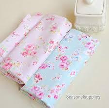 aqua blue fabric pink flower fabricshabby chic flower
