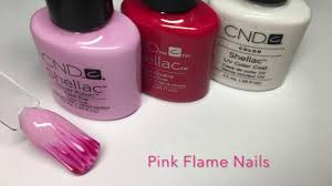 easy cnd shellac nail art flame effect youtube