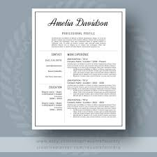 Best Resume Templates Etsy by Resume And Cover Letter Resume Templates Creative Market