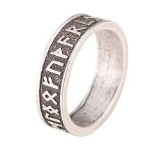 size 9 ring rune men ring nordic alphabet size 9 only
