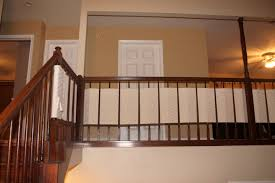 how to make a banister for stairs diy banister guard baby proofing stairs house of romero