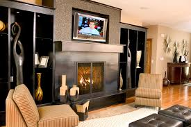 modern mounting tv above fireplace