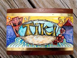 Tiki Home Decor It S Tiki Time Tiki Themed Hand Painted Decor Retro Inspired