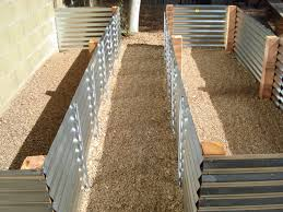 raised vegetable garden beds corrugated iron home outdoor decoration