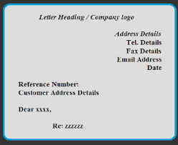 sample business letter and format