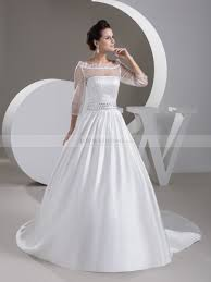 sequined wedding dress the shoulder satin wedding gown with sequined sheer top