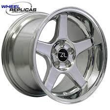 17x10 mustang wheels 102671650l 17x10 5 lip chrome 03 cobra wheel 94 04
