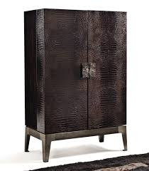 Metal Bar Cabinet Contemporary Bar Cabinet Walnut Metal Grandeur Y 745