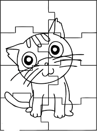 puzzle coloring page funycoloring