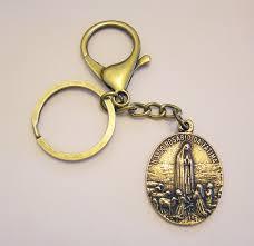 box keychain gift religious keychain st joseph medal brass key ring