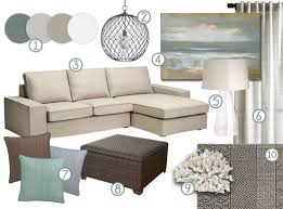 Mood Board Cool Neutral Earth Tones With A Definite Coastal Vibe - Color palette living room