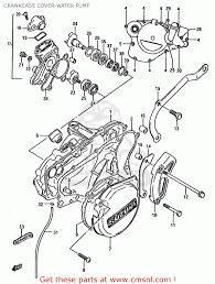 suzuki rm125 1987 h e01 e02 e04 e24 crankcase cover water pump