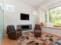 delightful living room decors added built in firepace feat tv