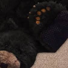 sunland home decor coupon 36in black bear plush stuffed animal skin rug