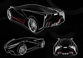 lamborghini aventador drawing outline ferrari project on behance