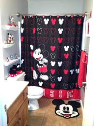 Red Mickey Mouse Curtains Splendid Bathroom Curtains Set Kids Bathroom Sets With Mickey
