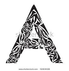 vector letter a celtic alphabet stock vector 606974162 shutterstock