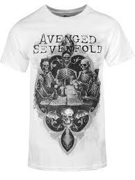Avenged Sevenfold Flag Avenged Sevenfold Bottoms Up Men U0027s White T Shirt Buy Online At
