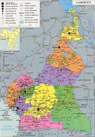 map of cameroon cameroun detailed administrative and political map detailed