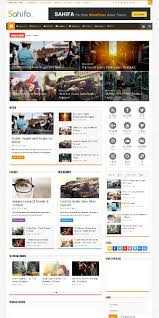 sahifa responsive news website template is a very visual and clean