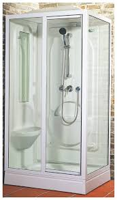 Small Steam Shower Bathroom Design Bathroom Two Tones Floating Wedge Shaped Small