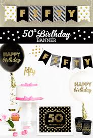 Centerpieces 50th Birthday Party by Happy 50th Birthday Banner 50th Birthday Decorations 50th