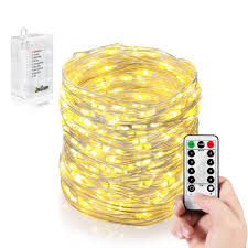 homestarry 132leds battery operated micro led string lights 32