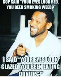 Donut Memes - cop said your eyes look red you been smoking weed i said your eyes