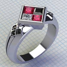 batman engagement rings harley quinn ring ruby and black diamond ring batman ring joker
