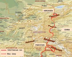 Karakorum On Map Karakorum Highway