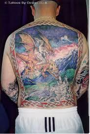 fantasy wizard tattoo on full back