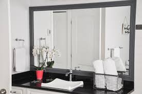 Trim Around Bathroom Mirror It S All In The Prep Easily Painting Trim Around A Mirror Suburble