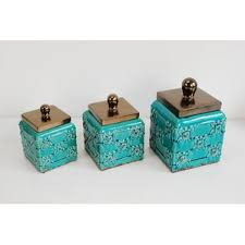 decorative kitchen canisters kitchen canisters jars you ll wayfair